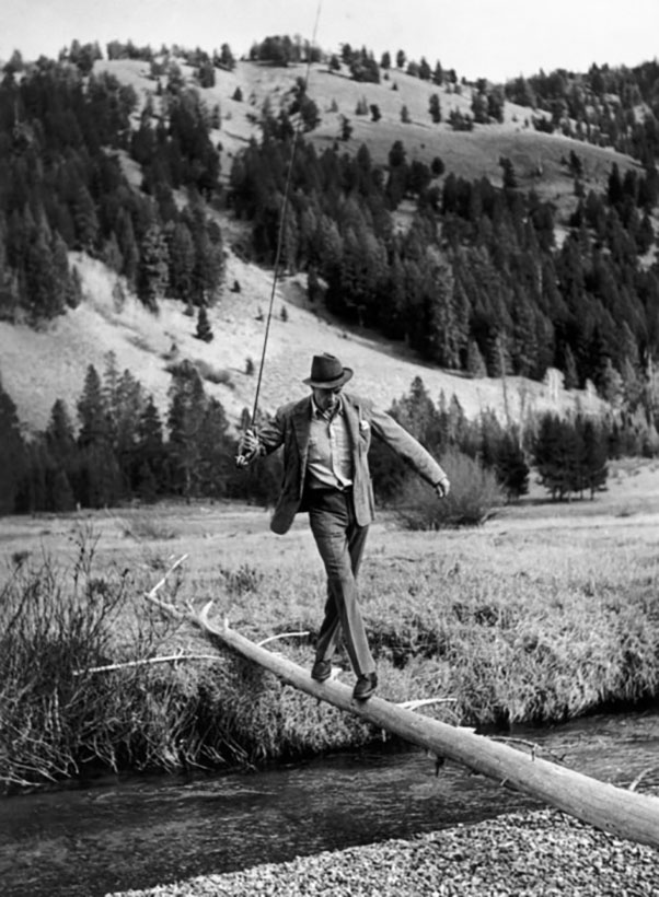 USA. Idaho. Sun Valley. October 1941. American actor Gary cooper.